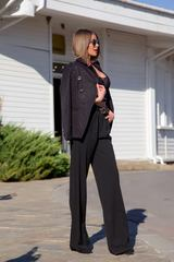 Alessa loves you панталон - черен - Изображение 5