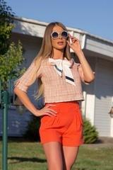 I make it hot кашмирен панталон - orange - Изображение 7
