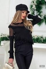 Angel блузка в черно