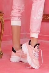 Pale Pink Sneakers От Ест. Кожа