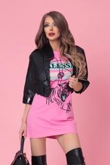 Alessa tiger рокля - розова - Изображение 4