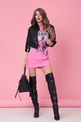 Alessa tiger рокля - розова - Изображение 5