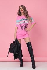 Alessa tiger рокля - розова - Изображение 6