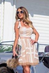 Alessa catwalk рокля от дантела - nude