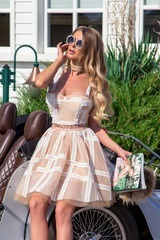 Чоукър Queen of fashion - телесен