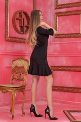 Miss Melania коктейлна рокля - Черна