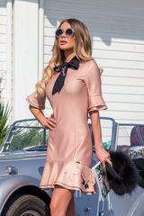 Miss Melania коктейлна рокля - nude