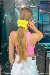 Жълт неон скрънчи - голямо - Изображение 1