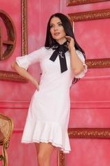 Miss Melania коктейлна рокля - Екрю - Изображение 1