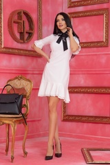 Miss Melania коктейлна рокля - Екрю - Изображение 3