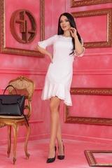Miss Melania коктейлна рокля - Екрю - Изображение 4