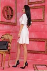 Miss Melania коктейлна рокля - Екрю - Изображение 5