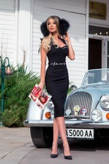 Helluva body bodycon рокля - черна - Изображение 3