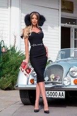 Helluva body bodycon рокля - черна - Изображение 4