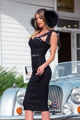 Helluva body bodycon рокля - черна - Изображение 1
