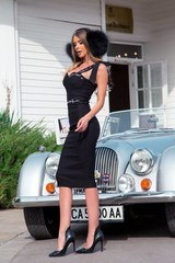 Helluva body bodycon рокля - черна - Изображение 5