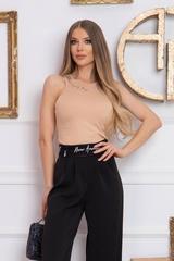 Steal my style Панталон с подвижен колан - Черен