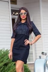 That's the business рокля от букле - тъмносиньо - Изображение 1