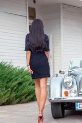 That's the business рокля от букле - тъмносиньо - Изображение 3
