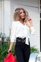 Start a hit риза от луксозен жоржет - екрю