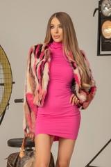 I'm into you топло палтенце от еко косъм - розово - Изображение 3