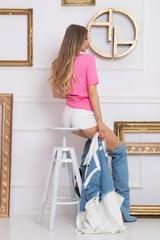 Feeling my style T-Shirt С Лого - Pink