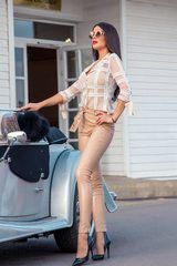 Alessa catwalk блузка от дантела - nude
