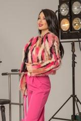 I'm into you топло палтенце от еко косъм - розово - Изображение 8