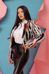 Fashion Killa Топло Палтенце От Еко Косъм - Flame Orange - Изображение 3