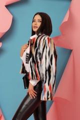 Fashion Killa Топло Палтенце От Еко Косъм - Flame Orange - Изображение 1