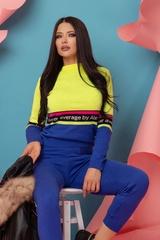 Heaven-like Пуловер От Плетиво - Жълт Неон - Изображение 3