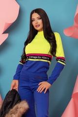 Heaven-like Пуловер От Плетиво - Жълт Неон - Изображение 1