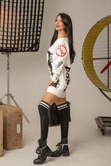 Don't act stupid спортна рокля - екрю - Изображение 5