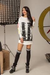 Don't act stupid спортна рокля - екрю - Изображение 6