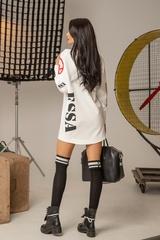 Don't act stupid спортна рокля - екрю - Изображение 7