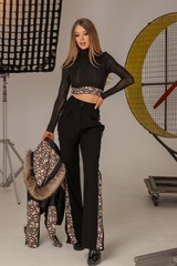 Alessa luxury панталон с широк крачол - Изображение 6