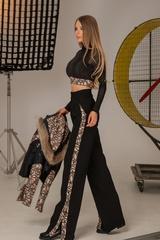 Alessa luxury панталон с широк крачол - Изображение 2