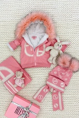Аlessa mini Religion шал от плетиво - pink