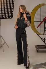 Alessa luxury панталон с широк крачол - Изображение 9