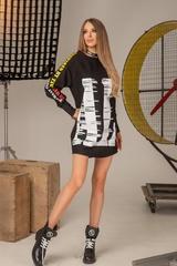 Don't act stupid спортна рокля - черна