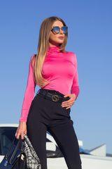 Style practice блуза-поло - циклама - Изображение 1
