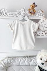 Alessa Luxury Logo mini T-Shirt - Екрю - Изображение 8