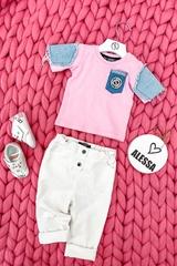 Alessa Mini Denim T-Shirt - Pink - Изображение 6