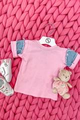 Alessa Mini Denim T-Shirt - Pink - Изображение 5