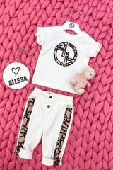 Alessa Luxury Logo mini T-Shirt - Екрю - Изображение 5