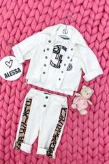 Alessa Luxury Logo mini T-Shirt - Екрю - Изображение 6