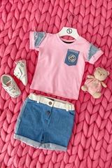 Alessa Mini Denim T-Shirt - Pink - Изображение 4