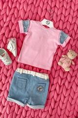 Alessa Mini Denim T-Shirt - Pink - Изображение 7