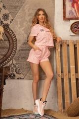 The Crazy Kind Къс Панталон - Light Pink - Изображение 3