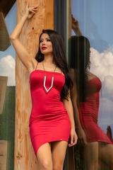 I need a mansion bodycon рокля - червена - Изображение 1